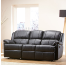 Echo 3 Seater Black